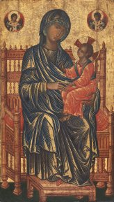 Unknown Byzantine Madonna (possibly from Constantinople), c. 1250 AD.