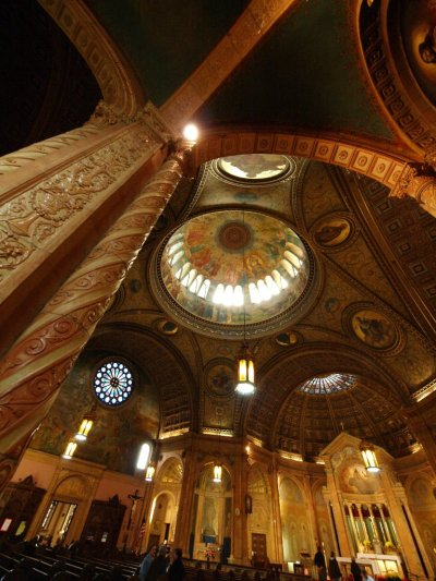 Blessed Trinity Church (Buffalo, NY). Interior domes and ceiling. Photo by Ray Ordinario.