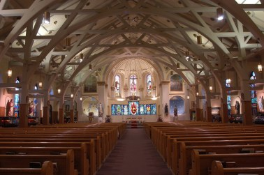 Shrine of St. Joseph the Worker (Lowell, MA). Interior vista. Photo from parish website.