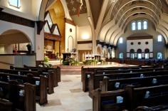 Holy Trinity Church (Gainesville, VA). Interior vista. Photo from parish website.
