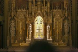 St. Mary Church (David City, NE). High altar detail. Photo from website of Clark Architects Collaborative 3.