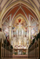 St. Mary Church (David City, NE). Sanctuary and high altar. Photo from website of Clark Architects Collaborative 3.