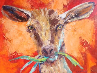 Susan Mains Goat Mout 16 x20