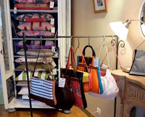 Handbags and pillows in Dinan