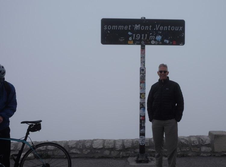 Jeff atop Mont Ventoux
