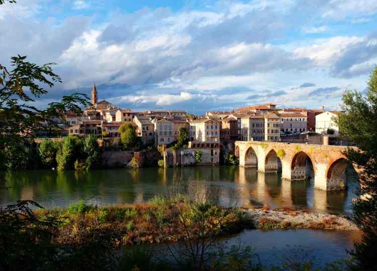 View of Albi and the river Tarn