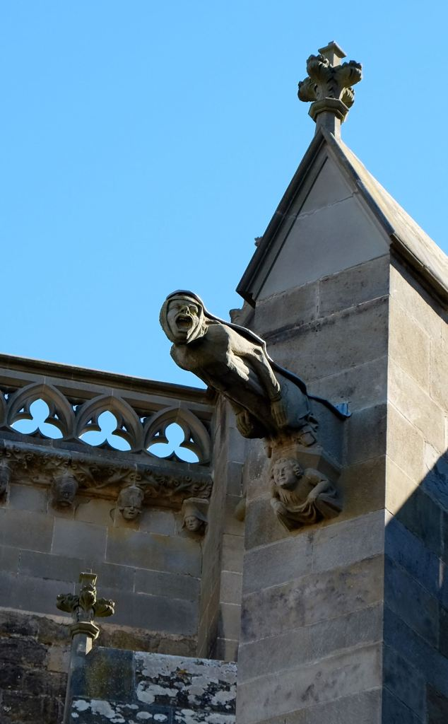 Scary gargoyle in Carcassonne