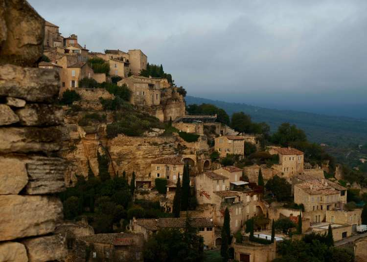 Gordes view, sunset filter