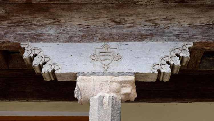 Architectural detail in Lagrasse