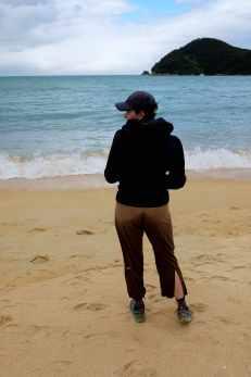 yoga on able tasman beach
