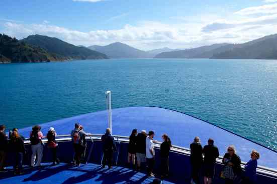 passengers on interislander ferry