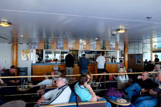 Bar on interislander ferry
