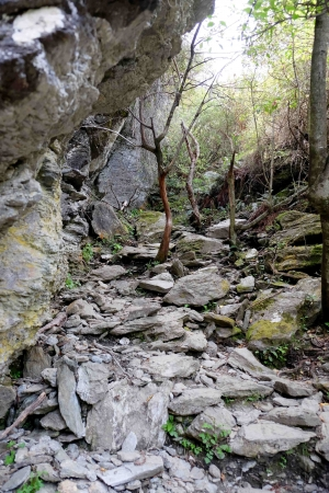 hiking rocky terrain