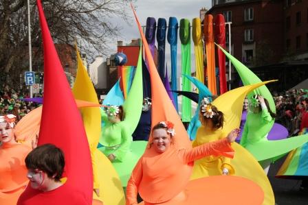 Carnival rainbow costumes