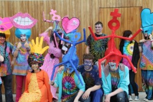 Youth group creat costumes for Pride parde with Artastic