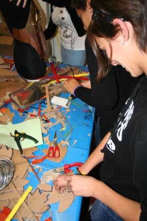 Youth Art Trash fashion – young people working with Artastic artists to create fashion with recycled materials