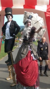 Steam punk stilts, Stilt walkers Ireland, entertainers