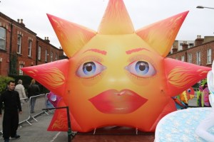 Inflatable Sun. inflatables, inflatable art