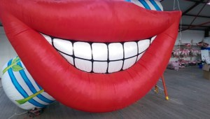 Inflatable Smile. inflatables, inflatable art