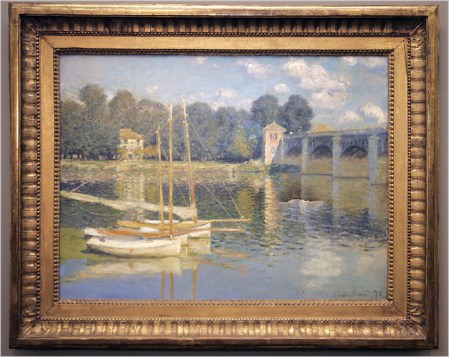Also in France in 2007, a group of drunk people, returning from Nuit Blanche (a set of all-night art and music events) forced open a door at Paris' Orsay Museum and eventually left a 4 inchi tear in Claude Monet's Le Pont D'Argenteuil before setting off the alarm and fleeing.