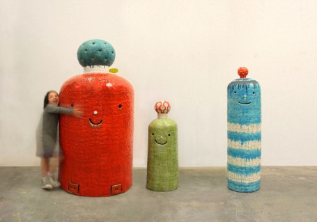 2013, 71 x 37 x 37 inches, Fired Clay and Glaze