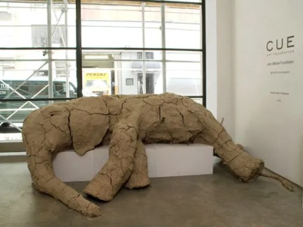 New York Elephant, clay, wood, 5'x11'x 6', 2008