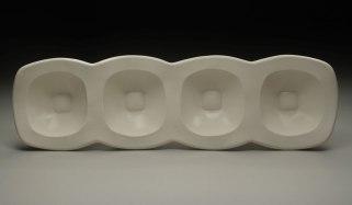 """slab-built porcelain, cone 6, 23 x 7 x 3,"""" 2010"""