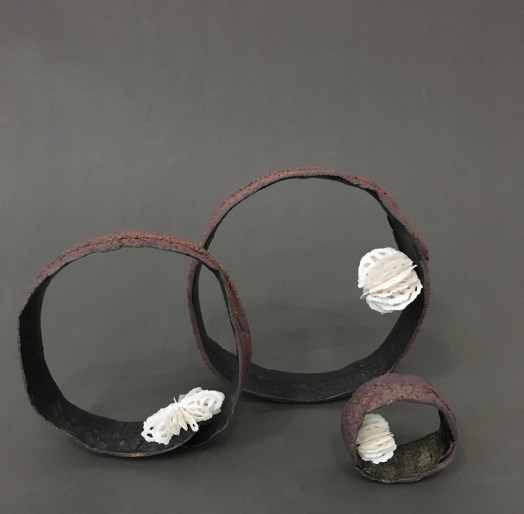 These pieces combine the Relic Series and Bone Series | Urchins into hybrid compositions.
