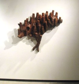 "Undergrowth (Wolves), ceramic, 37""x40""x12"", 2008"