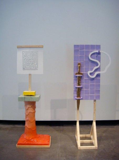 """Quest, 2012, 56"""" x 45"""" x 14"""", ceramic and mixed media"""