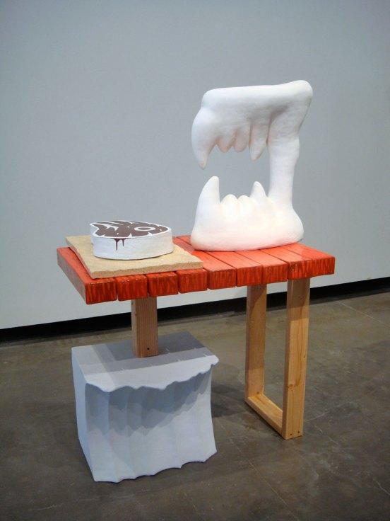 """Chomp, 2012, 48"""" x 36"""" x 20"""", ceramic and mixed media"""