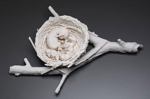"3""x12""x8"", hand built porcelain, 8/2007"