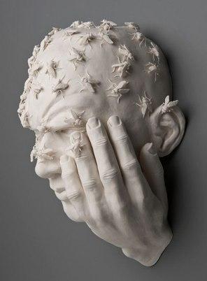 """14 ½""""x11""""x7 ½"""", hand built porcelain, acrylic gel, 3/2008"""