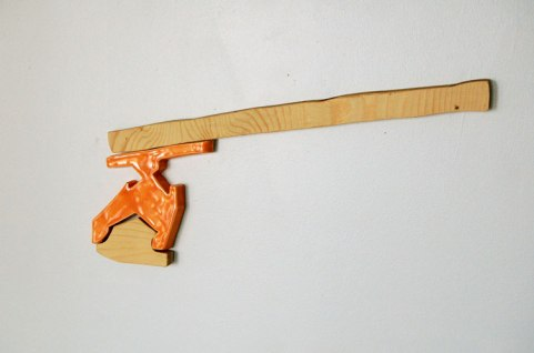 "ceramic, plywood, magnets, 12"" x 5"", 2010"