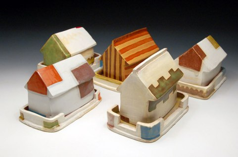 earthenware, slips, glaze, sizes variable, 2009-2010