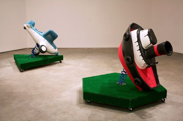 2013, Ceramic, glazes, wood, metal, Astroturf