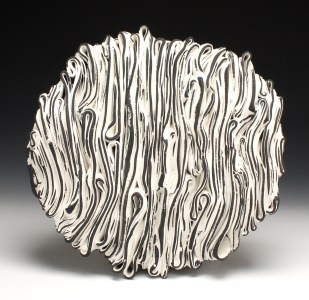 Stoneware, slip, Cone 6 Oxidation, hand-built, 3h x 11w x 10d inches