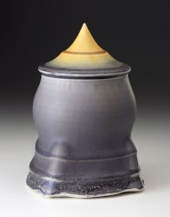 """Porcelain, wheel thrown and wet altered, Cone 10, oxidation fired, H: 8"""" x D:4"""", 2014"""