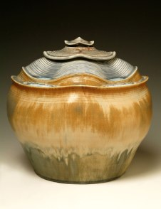 """Porcelain, wheel thrown and wet altered, Cone 10, oxidation fired, H: 11"""" x D: 12"""", 2004"""