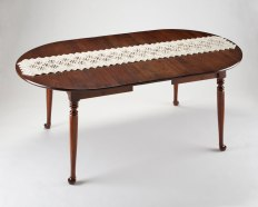 porcelain, antique dining table, h.30.5 x w.72 x d.40 inches, 2009 – 2010