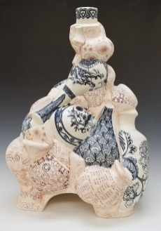 Hand Painted cobalt underglaze (Qing Hua) Terra sigillata