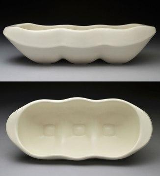 hand-built porcelain, cone 6, 14 x 7 x 4, 2013