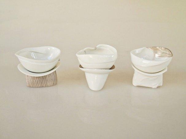 Porcelain, Silver, Each 6 x 6 x 6 cm, 2013