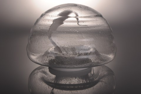 Glass object is also designed by the artist and it is made especcially for this artwork.