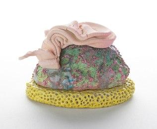 Stoneware, glaze, underglaze, 4 x 6 x 3.5 in