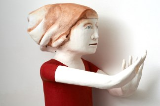 hand-built earthenware sculptures