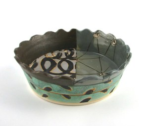 """Thrown & Altered Porcelain, Oxidation, Cone 9, 10""""x10""""x4"""", 2016"""