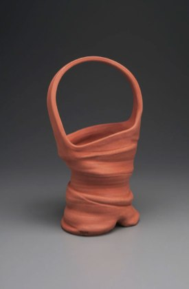 "2015, 18"" x 8"" x 6"" (h x w x d), Red clay, Wheel thrown and altered clay, no glaze and fired in oxidation to cone 6 in an electric kiln."