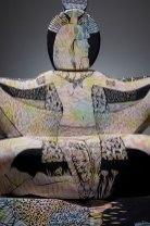 """2014, ceramic, underglaze, 65"""" x 38"""" x 23"""""""