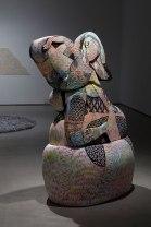 """2014, ceramic, underglaze, 62"""" x 31"""" x 23"""""""